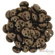 Dark Bronze - 30 db - Kétlyukú Lentil gyöngy (LZ23980)