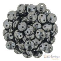 Hematite - 30 db - Kétlyukú Lentil gyöngy, mérete: 6 mm (L23980)