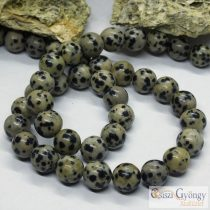 Dalmata Jasper - 1 pcs. - 8 mm, Hole: 1 mm