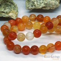 Natural Carnelian Bead - 1 pcs. - 8 mm, Hole: ca. 1 mm