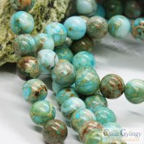 Imperial Jasper - 1 pcs. - 8 mm Gemstone Bead, Hole: ca. 1 mm