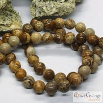 Natural Picture Jasper - 1 pcs. - 8 mm Gemstone Beads, Hole: 1 mm