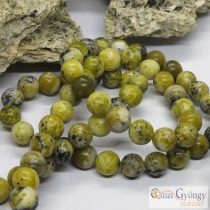 Yellow Turquoise Gemstone Beads - 1 pcs. - 8 mm