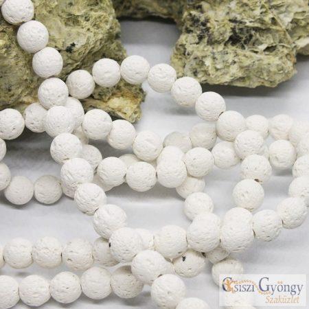 Fehér Lávakő - 1 db - 8 mm ásványgolyó