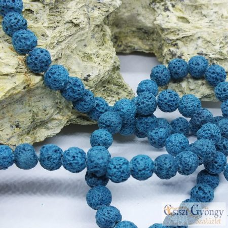 Turquoise Lava Beads - 1 pcs. - 8 mm