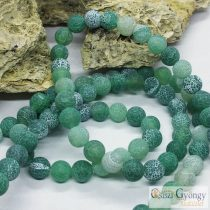 Natural & Dyed Crackle Agate - 1 pcs. - green, 8 mm Gemstone Beads