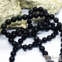 Natural Obsidian - 1 pcs. - 8 mm Gemstone Beads