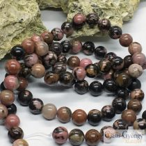Natural Rhodonite - 1 pcs. - 8 mm Gemstone Beads