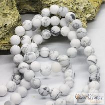 Frosted Howlite - 1 pcs. - 8 mm Gemstone Beads