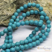 Synthetical Turquoise - 1 pcs. - 8 mm, Hole: ca. 1 mm