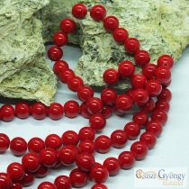 Natural Mashan Jade - 1 pcs. - 8 mm, Hole: 1 mm