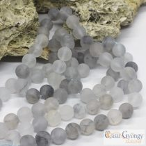 Frosted Cloudy Quartz - 1 pcs. - 8 mm Gemstone Beads