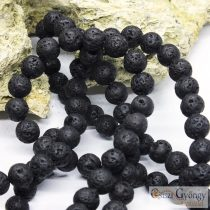 Natural Lava Stone Beads, black - 1 pcs. - 8 mm