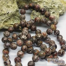 Natural Leopard Skin Jasper - 1 pcs. - 8 mm Gemstone Beads
