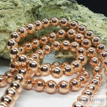 Nin-magnetic Synthetic Hematite - 1 pcs. - 8 mm, Rose Gold Color