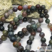 Indian Agate - 1 pcs. - 8 mm Gemstone Beads