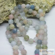 Frosted Morganite - 1 pcs. - 8 mm, Gemstone Beads