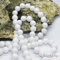 Fehér Mashan Jáde - 1 db - 8 mm ásványgolyó gyöngy