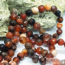Natural Fire Agate Faceted Dyed - 1 pcs. - 8 mm