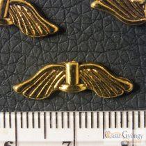Angyalszárny - 1 db - sárgaréz színű, 21 mm