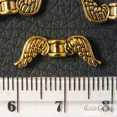 Angelwing - 1 pcs. - antique gold color, size: 18 mm, Hole: 1 mm