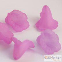 Lila akril virág - 1 db - mérete: 16 mm