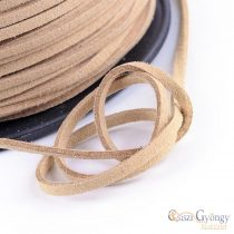 Nature Suede Leather Imitation - 1 Roll (5 meter) - size: 3 mm wide