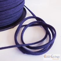 Navy - 1 meter - Suede Leather Imitation, size: 3 mm wide