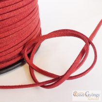 Brick - 1 meter - Suede Leather Imitation, size: 3 mm wide