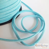 Light Blue - 1 meter - Suede Leather Imitation, size: 3 mm wide