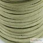 Halvány zöld - 50 centiméter - 3 mm széles valódi hasított bőrszál