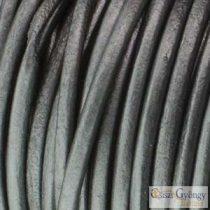 Fényes szürke - 50 centiméter - 1 mm vastag bőrszál, kör keresztmetszetű