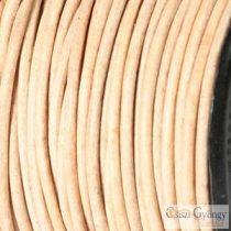 Natúr - 50 centiméter - 1 mm vastag, kör keresztmetszetű bőrszál