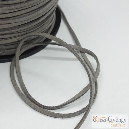 Szürke - 1 méter - 3 mm velúr hatású bőrutánzat
