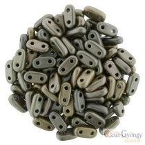 Matte Metallic Leather - 30 Stück - Bar Perlen 2x6 mm (K0167)