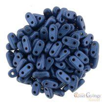 Metallic Suede Blue - 30 Stück - Bar Perlen 2x6 mm (7903MJT)