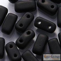 Matte Jet - 30 pc. - Brick Beads, size: 3x6 mm (M23980)