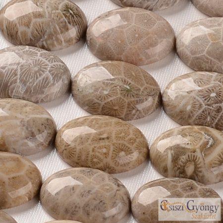 Krizantém Kő - 1 db - ásvány kaboson mérete: kb. 25x18 mm