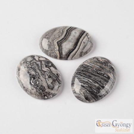 Crazy Agate ásvány cabochon - 1 db - 20x15x6 mm