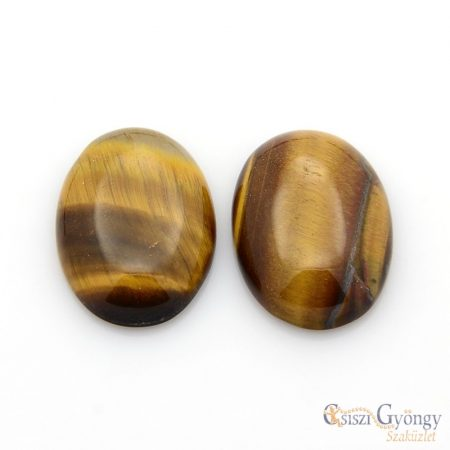 Gemstone Tiger Eye - 1 pc. - 25x18x5-7mm oval cabochon