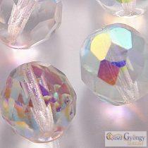 Crystal AB - 4 db - 12 mm csiszolt üveggyöngy (X00030)