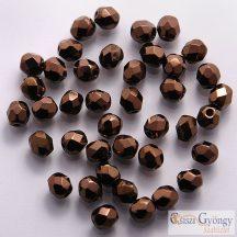 Dark Bronze - 50 db - csiszolt gyöngy 3 mm (LZ23980)