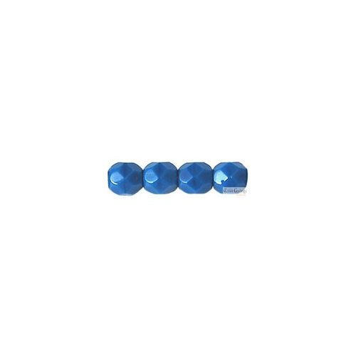 Opaque Blue - 50 db - cseh csiszolt gyöngy 3 mm (33200)