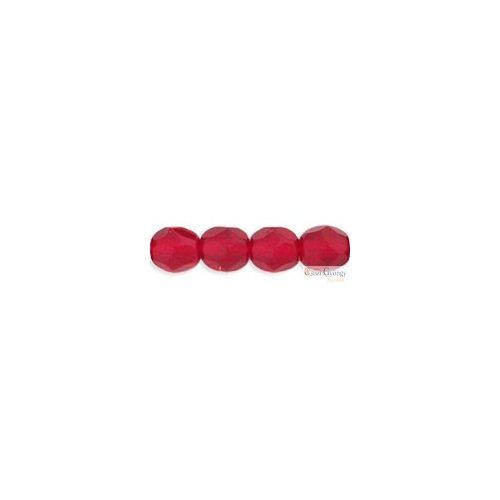 Siam Ruby - 50 db - csiszolt gyöngy 3 mm (90080)