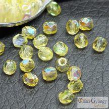 Citrin Yellow AB - 50 db - csiszolt gyöngy 3 mm (X80120)