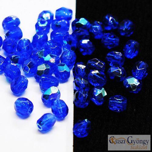 Dark Sapphire AB - 50 db - csiszolt gyöngy 3 mm (X30080)
