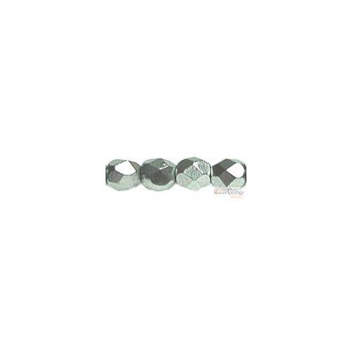 Matte Metallic Silver - 50 db - csiszolt gyöngy 3 mm (K0170JT)