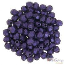 Metallic Suede Purple - 50 db - csiszolt gyöngy 3 mm (79021MJT)