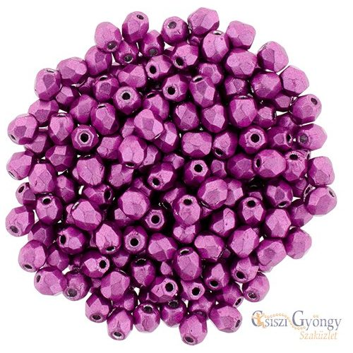 Saturated Metallic Pink Yarrow - 50 db - 3 mm csiszolt gyöngy (77062CR)