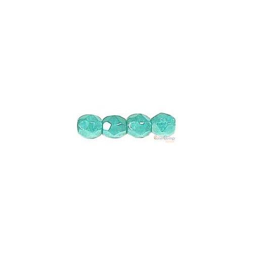 Luster Turquoise - 50 db - csiszolt gyöngy 3 mm (L63130)